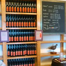 Île d'Orleans Monna cassis bottles P1070460