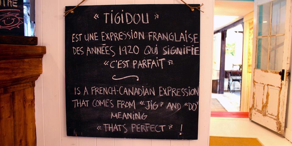 Tigidou, Île d'Orléans