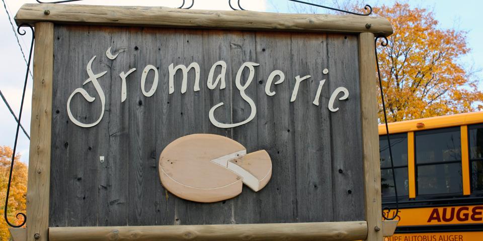 fromagerie sign, Île d'Orléans