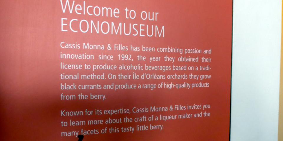 Cassis Monna & Filles, Île d'Orléans