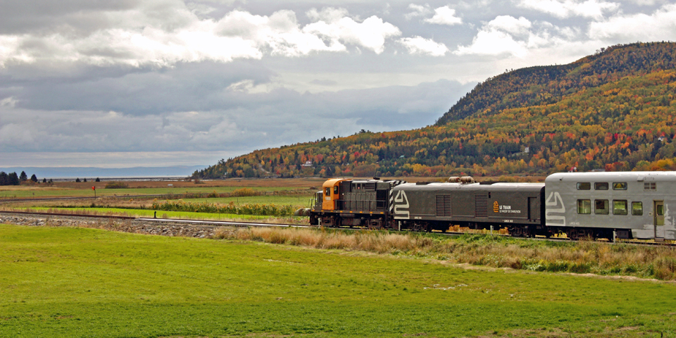Le Train of Le Massif de Charlevoix, Baie-Saint-Paul, Charlevoix, Quebec, Canada