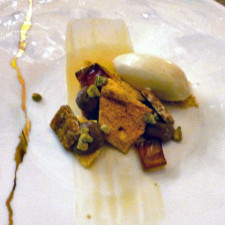 maple dessert, Champlain dining room, Château Frontenac