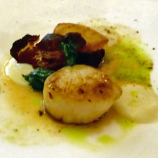 scallops, Champlain dining room, Château Frontenac