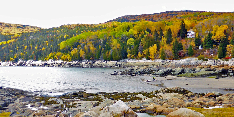 Charlevoix, Quebec, Canada, between La Malbaie and Baie Sainte-Catherine
