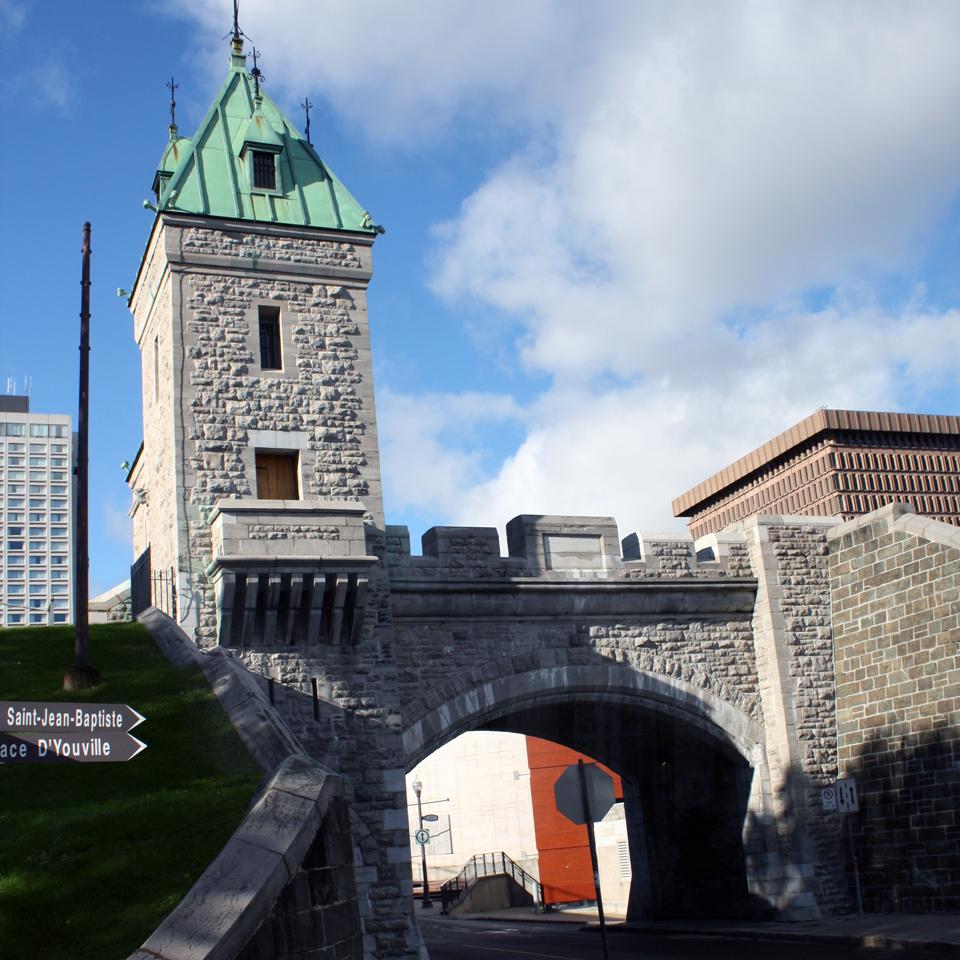 city gate, Quebec City
