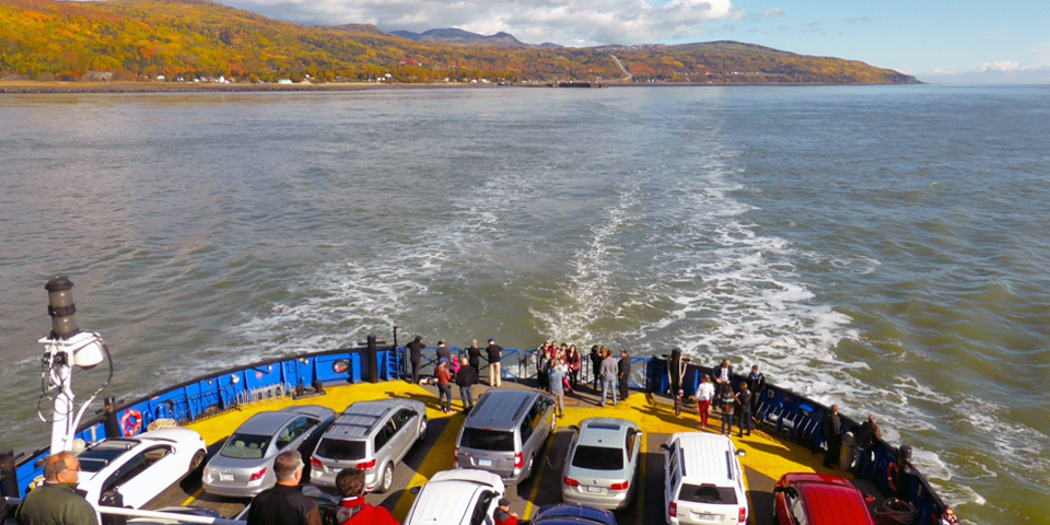 ferry to Isle-aux-Coudres, Charlevoix, Quebec, Canada