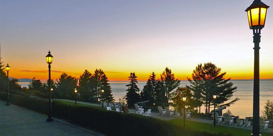 sunrise, Manoir Richelieu, Charlevoix, Quebec, Canada
