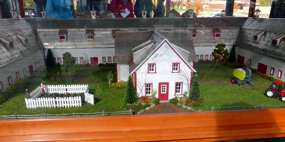 original farm model, La Ferme, Charlevoix, Quebec, Canada