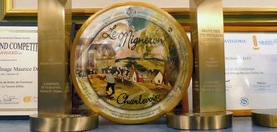 Le Migneron cheese, Maison Mayrice Dufour, Baie-Saint-Paul, Charlevoix, Quebec, Canada