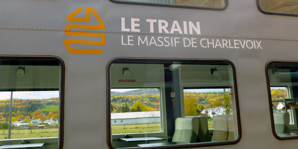 Train of Le Massif, Charlevoix, Quebec, Canada