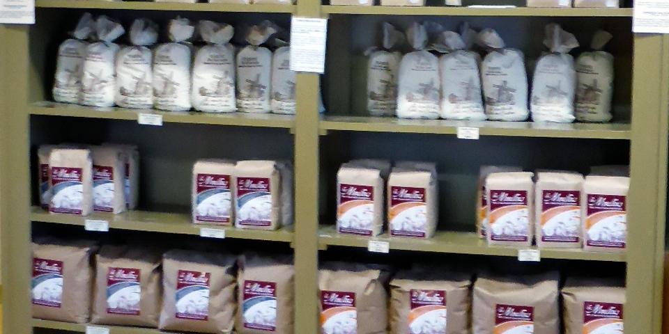 flour, Les Moulins, Charlevoix, Quebec, Canada