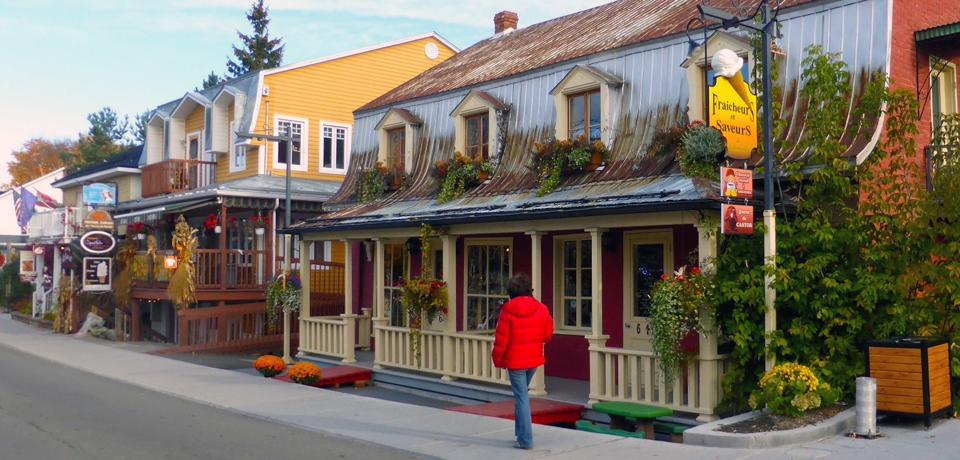 Rue Saint-Jean-Baptiste, Baie-Saint-Paul, Charlevoix, Quebec, Canada