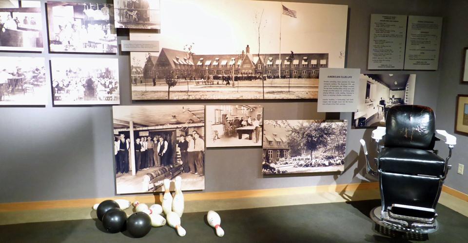 American Club Life display. Kohler Design Center, Wisconsin