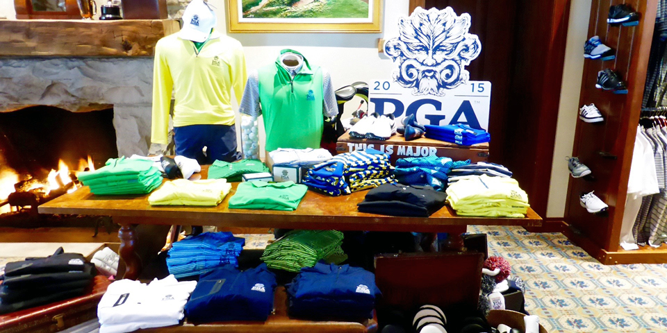 PGA items in the clubhouse gift shop, Whistling Straits Golf Course, Sheboygan, Wisconsin