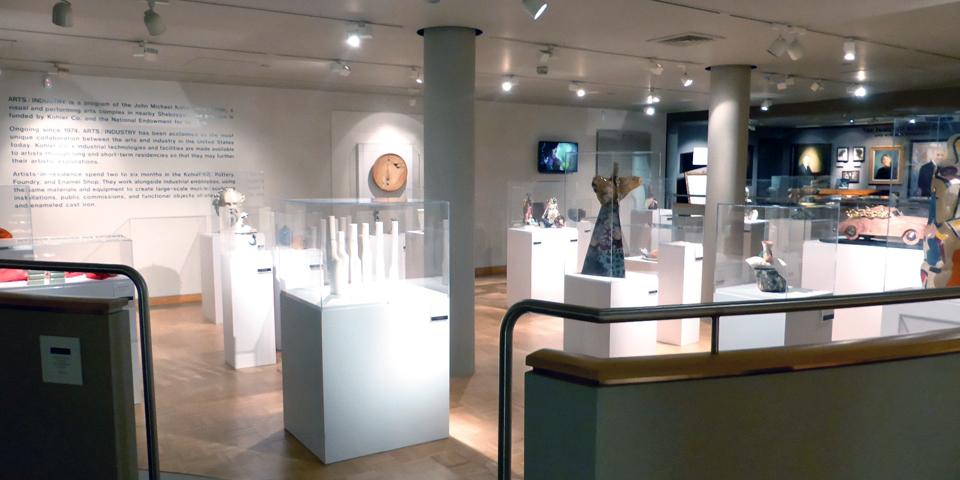 Artist-in-Residence program arts-industry display, Kohler Design Center, Wisconsin