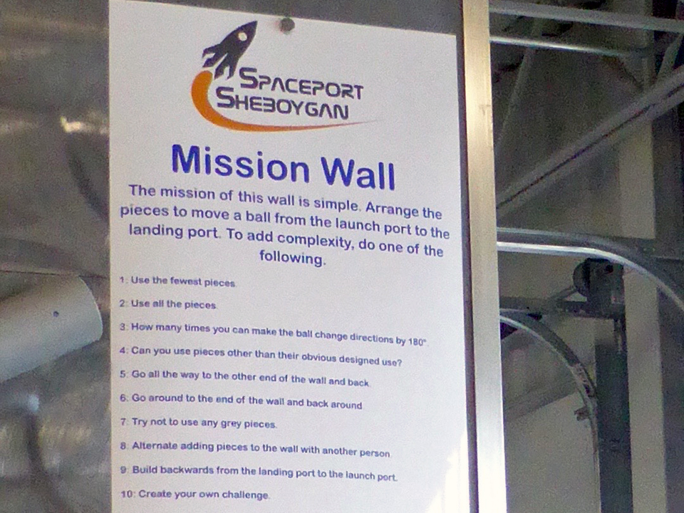 Mission Wall, Spaceport Sheboygan, Sheboygan, Wisconsin