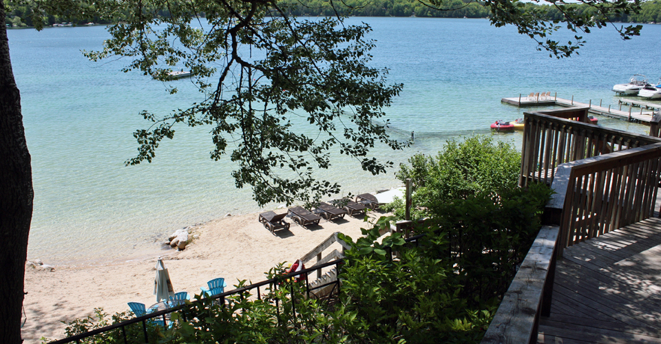 beach, Elkhart Lake, Wisconsin