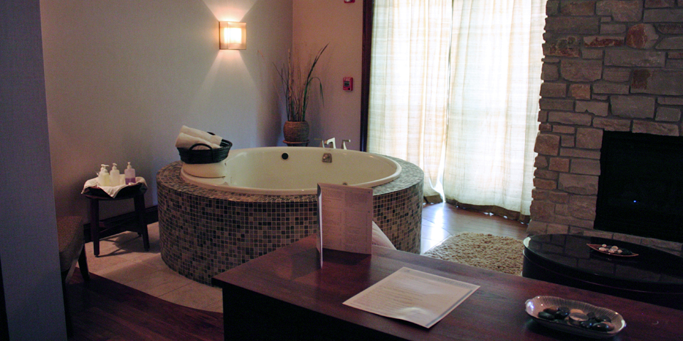 couple's massage room, The Osthoff Resort, Elkhart Lake, Wisconsin