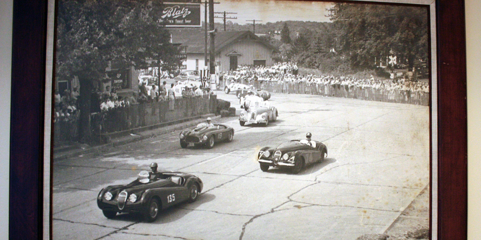 photograph of racers, The Osthoff Resort, Elkhart Lake, Wisconsin