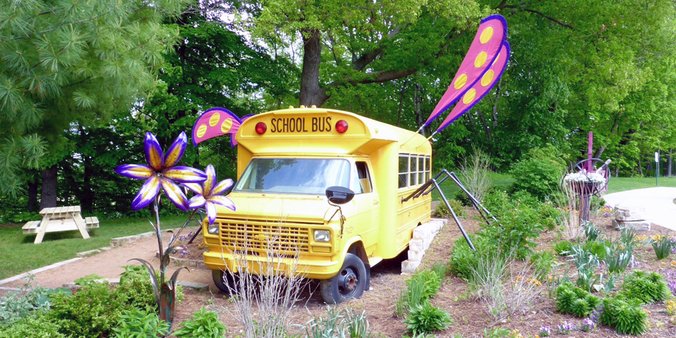 The Magic School Bus, Bookworm Gardens, Sheboygan, Wisconsin