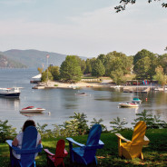 Lake and mountains: The Basin Harbor Club