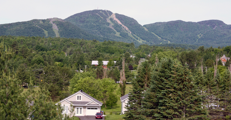 view of Mount Orford from Manoir des Sables, Orford, Eastern Townships, Québec, Canada