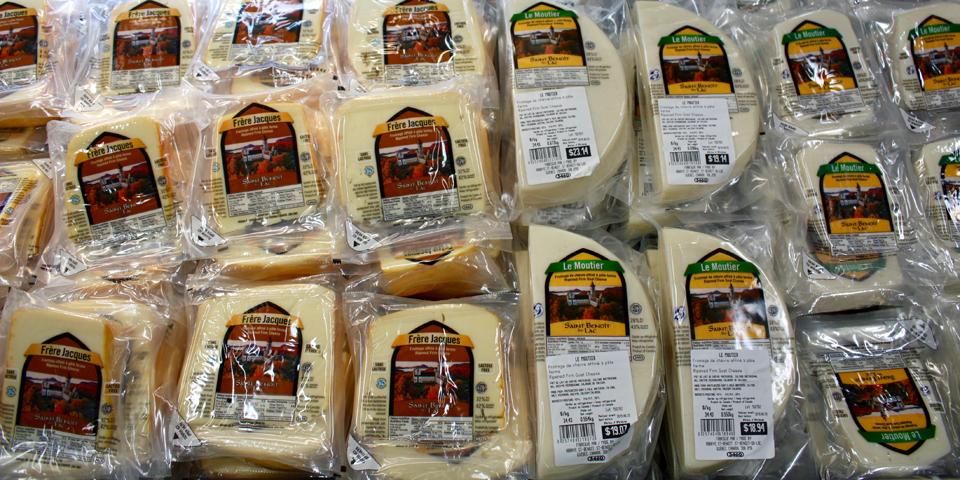cheeses, Abbaye du St-Benoît-du-Lac, Eastern Townships, Québec, Canada