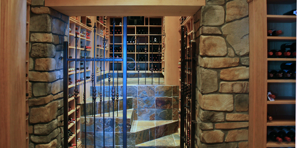wine cellar, Ripplecove Lakefront Hotel, Ayer's Cliff, Eastern Townships, Quebec, Canada