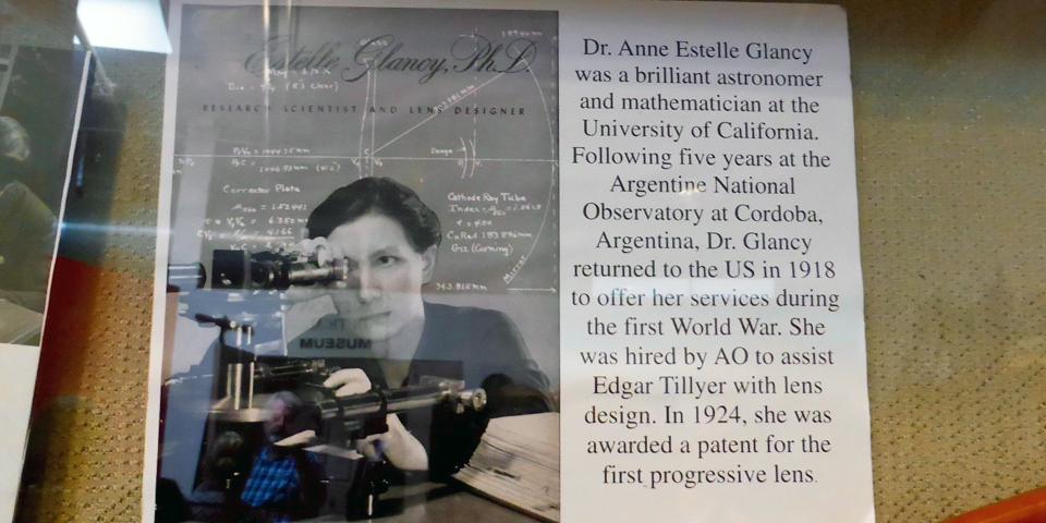 Dr. Anne Estelle Glancy, American Optical Museum, Southbridge, Massachusetts
