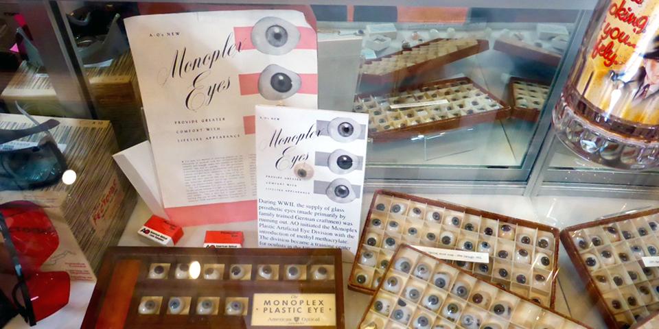 Monoplex Artificial Eyes, American Optical Museum, Southbridge, Massachusetts