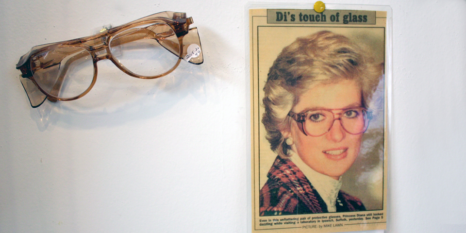 Princess Diana with American Optical glasses, American Optical Museum, Southbridge, Massachusetts