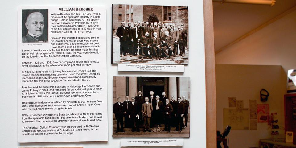William Beecher display, American Optical Museum, Southbridge, Massachusetts