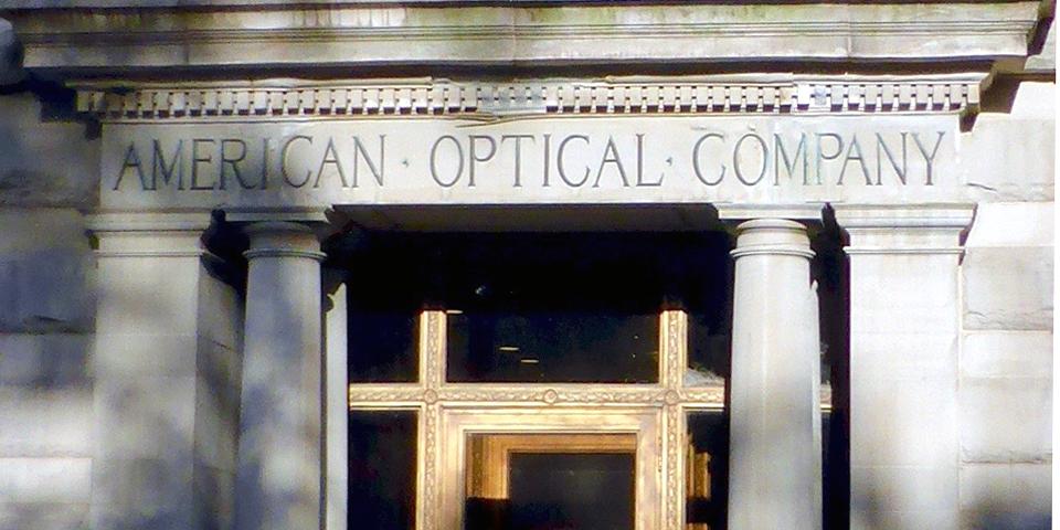 main doorway, American Optical Company, Southbridge, Massachusetts