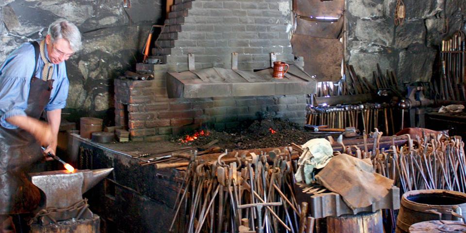 blacksmith, Old Sturbridge Village, Sturbridge, Massachusetts
