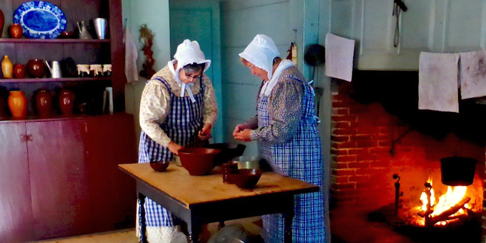 hearthside cooking at Old Sturbridge Village