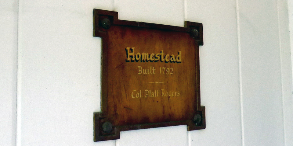Homestead 1792 sign, Basin Harbor Club, Vergennes, Vermont