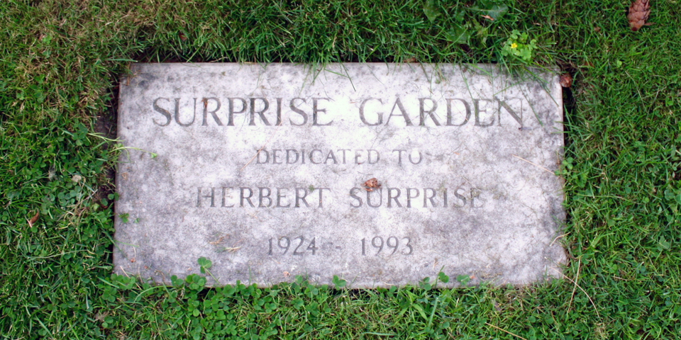 Surprise Gardens plaque, Basin Harbor Club, Vergennes, Vermont