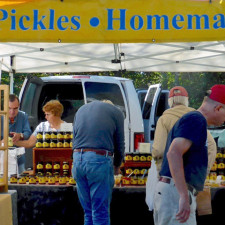 jams, pickles, homemade pies. Stowe Farmers Market