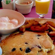 blueberry pancakes, Stowe Stoweflake Mountain Resort & Spa