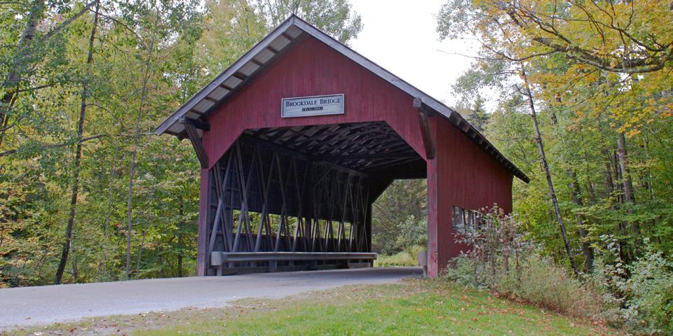 Brookdale covered bridge, Stowe, Vermont