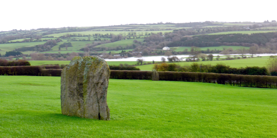 view from Newgrange, County Meath, Ireland