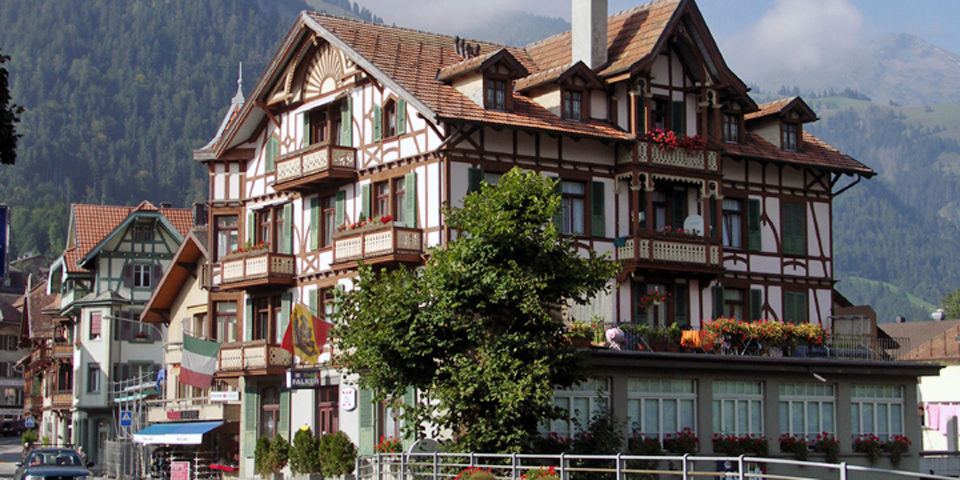 The mountain village of Frutigen was our base for exploring Switzerland.