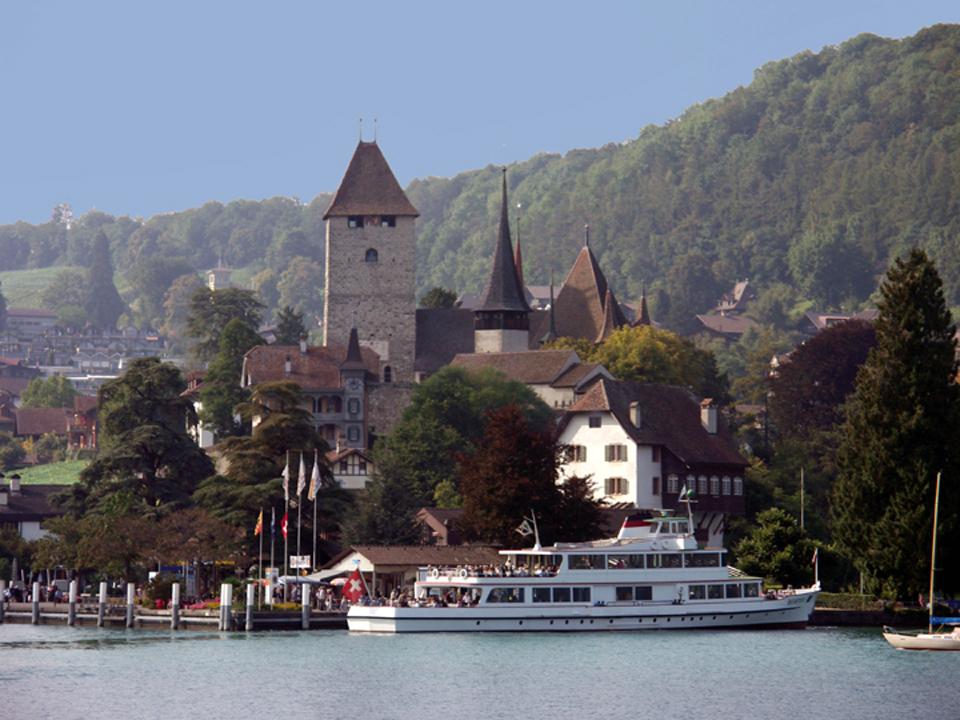 Lake Thun in Spiez, Switzerland
