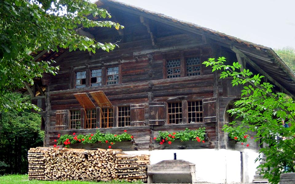 chalet, Ballenberg, Switzerland