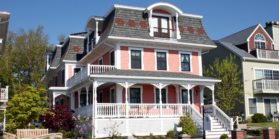 The Saybrook Point Inn & Spa's new Victorian-era Italianate-style Tall Tales is one of two similar houses on the property. It was meticulously designed to authenticate the heritage of Old Saybrook though its architecture and interior decor.