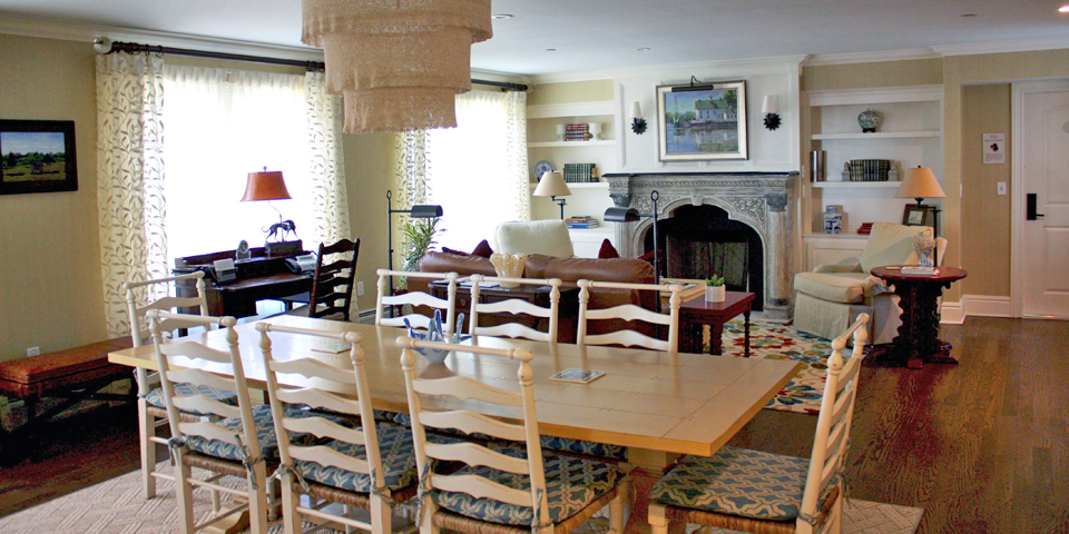 dining and living room of Tall Tales, .Saybrook Point Inn & Spa, Old Saybrook, Connecticut