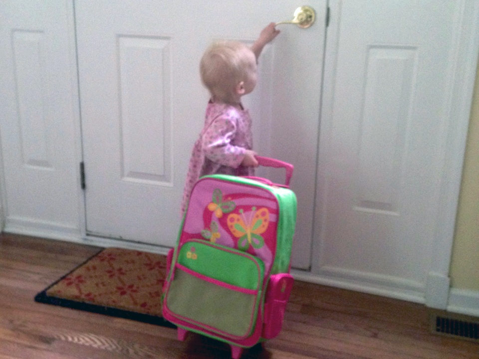 Having one's own suitcase is the start of a toddler's travel adventure.