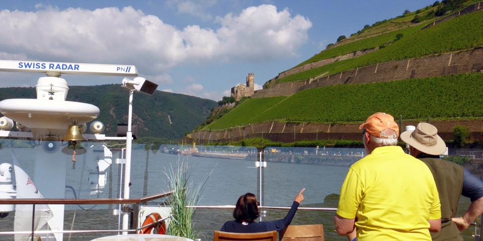Overlooking Rüdesheim on the Rhine from Viking Magni
