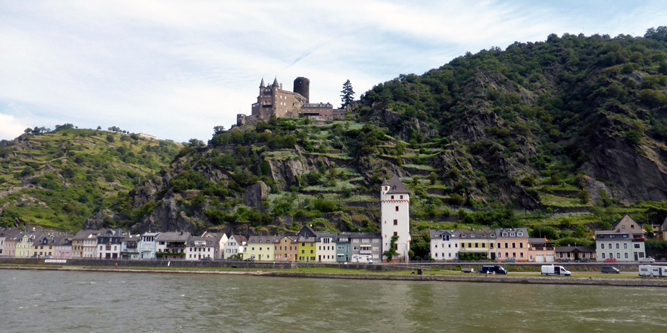 village and castle, Viking River Cruise along the Rhine