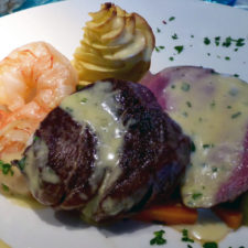 surf and turf served during our Viking River Cruise